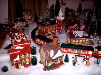 Christmas village - A Department 56 New England Series village display.