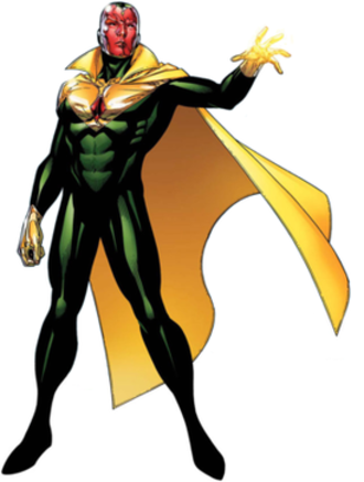 Vision (Marvel Comics) - The Vision, as he appears as a member of the Young Avengers. Art by Jim Cheung.