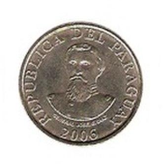 Paraguayan guaraní - Image: 100 guaranies reverso