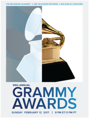 59th Annual Grammy Awards - Official poster