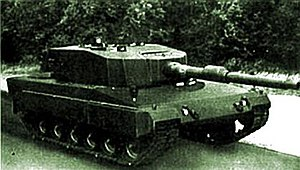 A mock-up of one of the prototypes of the Spanish Lince main battle tank.jpg