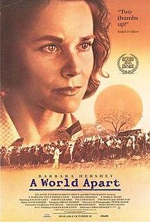 <i>A World Apart</i> (film) 1988 film directed by Chris Menges