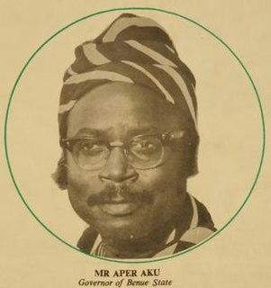 Aper Aku Governor of Benue State
