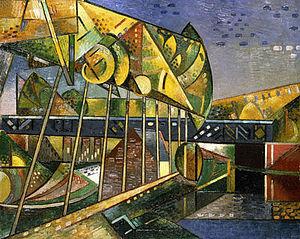 Auguste Herbin - Auguste Herbin, Le pont de fer (Iron Bridge), 1911, oil on canvas, 63.5 x 80 cm