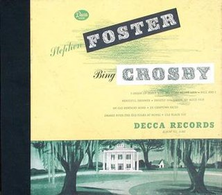 <i>Stephen Foster</i> (album) 1946 compilation album by Bing Crosby