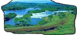 Bujagali Falls - View of Bujagali Falls