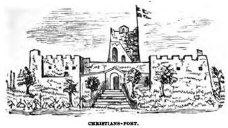 Jørgen Iversen Dyppel - The fort on St. Thomas