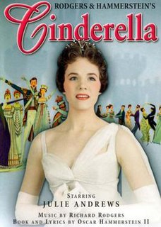 <i>Cinderella</i> (musical) musical written for television, with music by Richard Rodgers and a book and lyrics by Oscar Hammerstein II in 1957