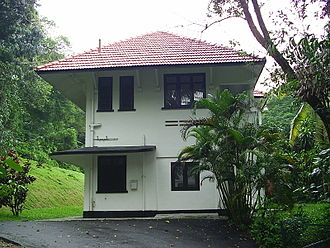 One-north - Black and white colonial bungalow at Rochester Park
