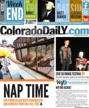 Colorado Daily - Image: Colorado Daily (front page)