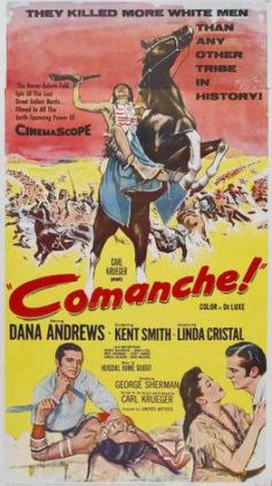 Comanche (1956 film) - Theatrical release poster