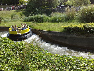 Congo River Rapids in the Katanga Canyon area of Alton Towers. Congo River Rapids.jpg
