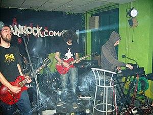 Consecration (band) - Consecration live in Niš in 2009, from left to right: Danilo Nikodinovski, Nikola Milojević and Nemanja Trećaković