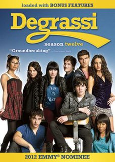 <i>Degrassi</i> (season 12) season of television series