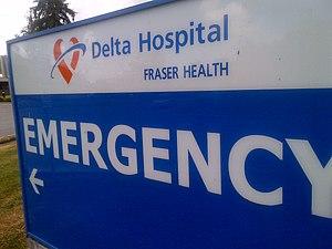 Delta Hospital - Image: Delta Hospital Sign 2015