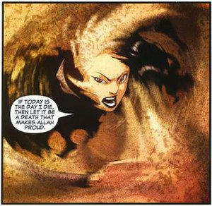 Dust (comics) - Dust uses her powers