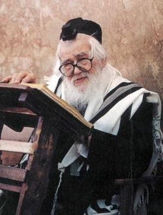 Elazar Shach - Elazar Shach at the Ponevezh Yeshiva
