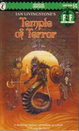 Temple of Terror - The original Puffin Books cover (1985)
