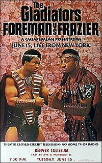 George Foreman vs. Joe Frazier II Boxing competition