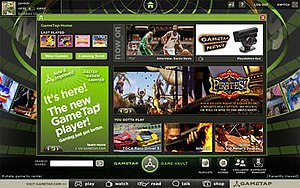 The GameTap 2007-2009 desktop
