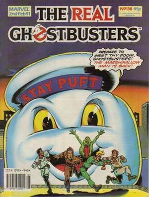 The Stay Puft Marshmallow Man menaces the Ghos...
