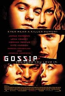 <i>Gossip</i> (2000 American film) 2000 American teen drama film directed by Davis Guggenheim