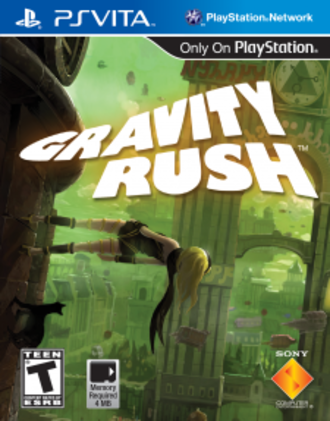 Gravity Rush - Cover for the North American Vita release