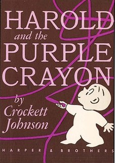 <i>Harold and the Purple Crayon</i> 1955 childrens book by Crockett Johnson