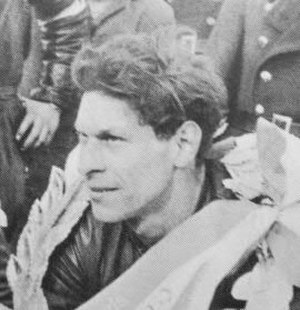 Helmut Fath - Helmut Fath wearing the race winner's garland