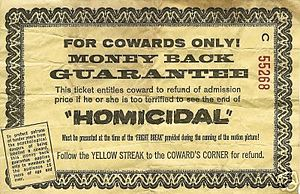 Homicidal - Fright Certificate