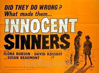Innocent Sinners - British theatrical poster
