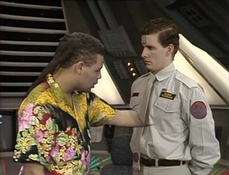 """Arnold Rimmer - Resurrected as a 'soft-light' hologram, Rimmer was unable to touch or interact with his environment until the series VI episode """"Legion"""" where he became a 'hard-light' hologram."""