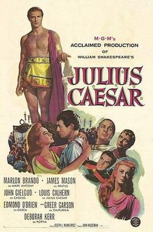Julius Caesar (1953 film) - Theatrical release poster