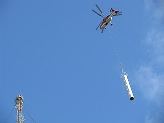 Kamov Ka-27 - Heliswiss Ka-32 installs digital-TV transmitter in Århus, Denmark.