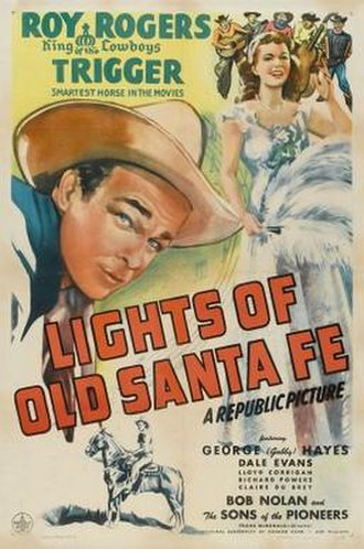 Lights of Old Santa Fe - Original film poster