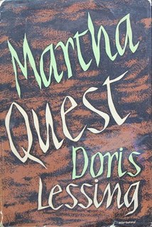<i>Martha Quest</i> book by Doris Lessing