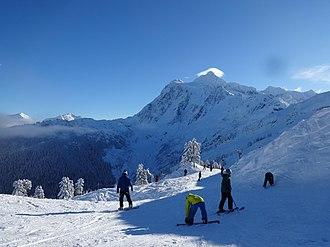 Mt. Baker Ski Area - Near Chair 5 facing towards Mt. Shuksan