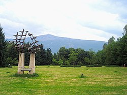 View of the Vitosha Mountain from the South Park of Sofia