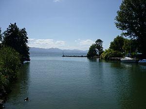 Venoge (river) - The mouth of the Venoge and Lake Geneva