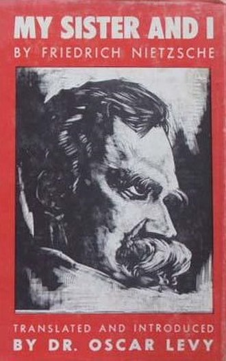 My Sister and I (Nietzsche) - Cover of the first edition