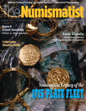 The Numismatist - Image: Numismatist Magazine January 2015