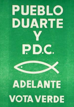 Christian Democratic Party (El Salvador) - 1982 PDC election poster