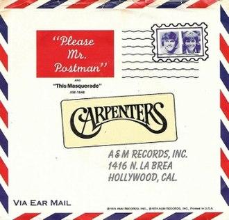 Please Mr. Postman - Image: Please Mr. Postman (Carpenters)