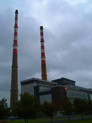 Poolbeg Generating Station - Poolbeg Thermal Station (from the west side) in 2006