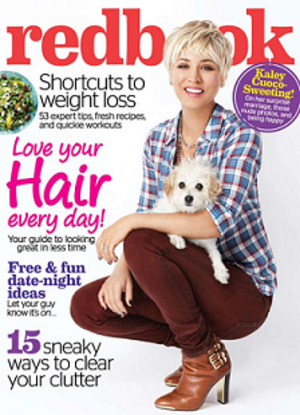 Redbook - Cover of the February 2015 edition featuring Kaley Cuoco
