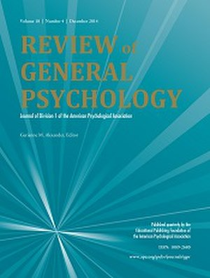 Review of General Psychology - Image: Review of General Psychology Cover Image