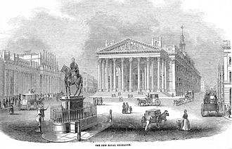 1844 in the United Kingdom - The Royal Exchange (London), opened by Queen Victoria on 28 October