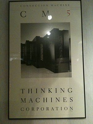 Thinking Machines Corporation - Advertisement poster at the National Cryptologic Museum