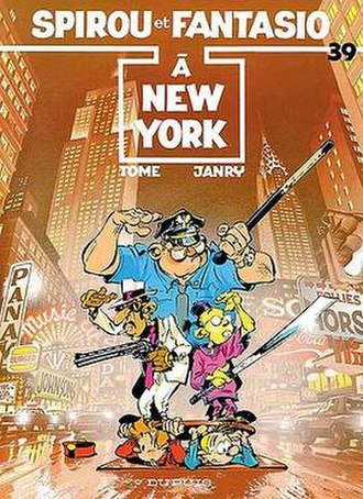 Spirou à New York - Cover of the Belgian edition
