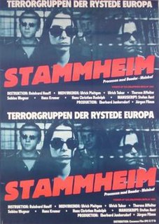 <i>Stammheim</i> (film) 1986 film by Reinhard Hauff